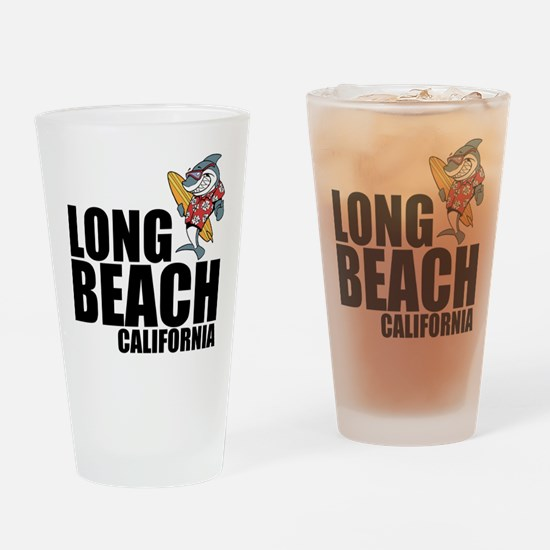 Long Beach, California Drinking Glass
