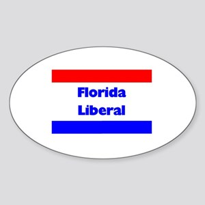 Florida Liberal Oval Sticker