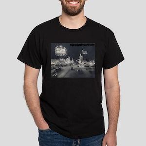 Vintage Las Vegas at Night Dark T-Shirt