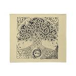 Celtic Tree of Life Ink Throw Blanket