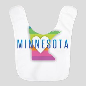 Minnesota Heart Rainbow Polyester Baby Bib