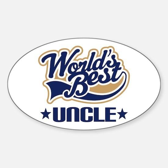 Worlds Best Uncle Sticker (Oval)