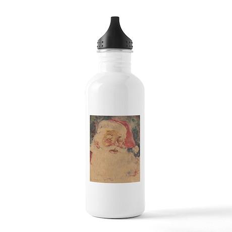 Vintage Santa Claus Stainless Water Bottle 1.0L