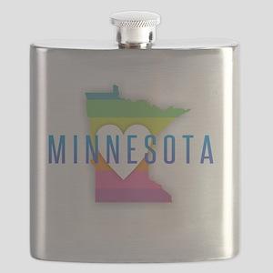 Minnesota Heart Rainbow Flask