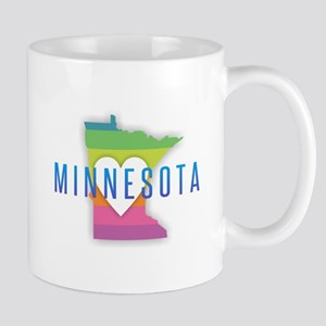 Minnesota Heart Rainbow Mugs