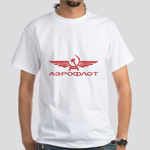 Vintage Aeroflot White T-Shirt