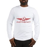 Aeroflot Long Sleeve T-shirts