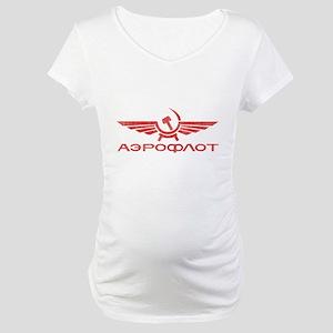Vintage Aeroflot Maternity T-Shirt