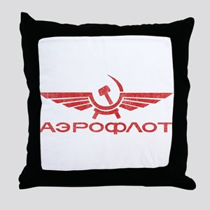 Vintage Aeroflot Throw Pillow
