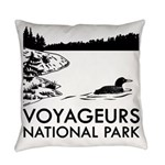 Voyageurs National Park Loon Everyday Pillow