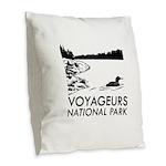 Voyageurs National Park Loon Burlap Throw Pillow