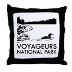 Voyageurs National Park Loon Throw Pillow