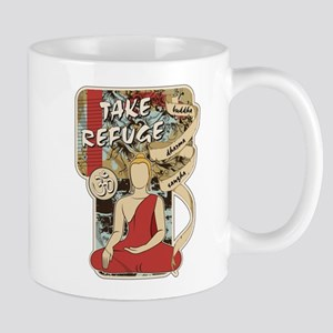 Buddha Take Refuge Dharma Sangha Mug