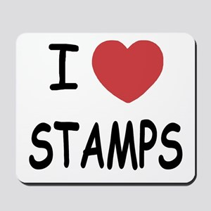 I heart stamps Mousepad