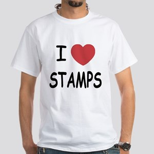 I heart stamps White T-Shirt