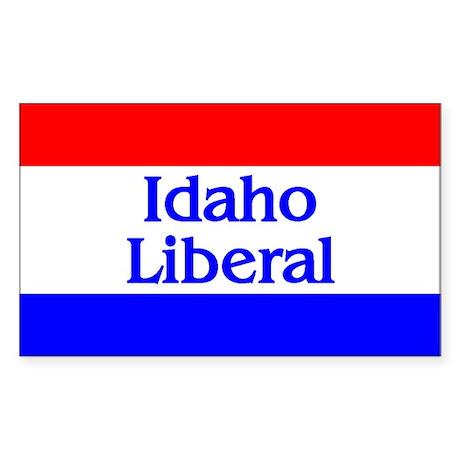 Idaho Liberal Rectangle Sticker