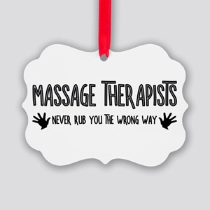 Massage Therapists Hands Rub Ornament