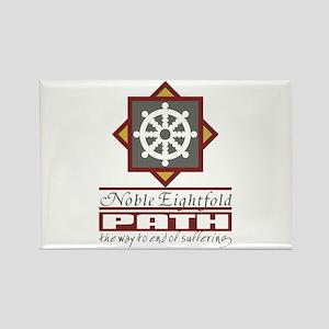 Buddhism Eightfold Path Rectangle Magnet