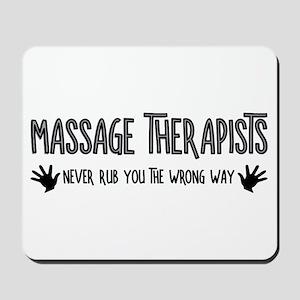 Massage Therapists Hands Rub Mousepad