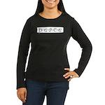 Peace Women's Long Sleeve Dark T-Shirt