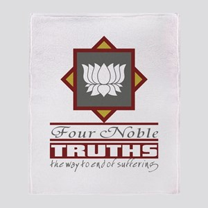 Buddhism Four Noble Truths Throw Blanket