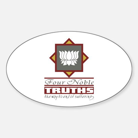Buddhism Four Noble Truths Sticker (Oval)