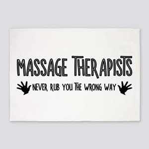 Massage Therapists Hands Rub 5'x7'Area Rug