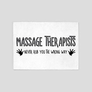 Massage Therapists Hands Rub 5'x7'Area Rug