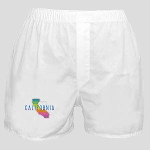 California Heart Rainbow Boxer Shorts