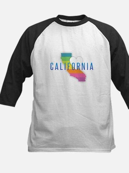 California Heart Rainbow Baseball Jersey