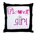 Flowergirl Throw Pillow