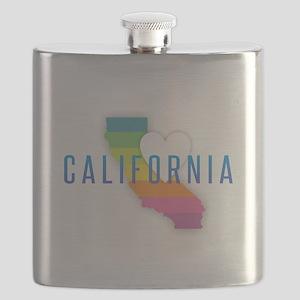 California Heart Rainbow Flask