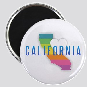 California Heart Rainbow Magnets
