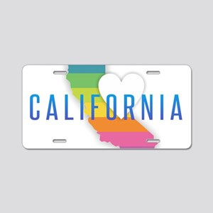 California Heart Rainbow Aluminum License Plate