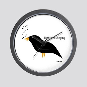 Blackbird Singing Wall Clock