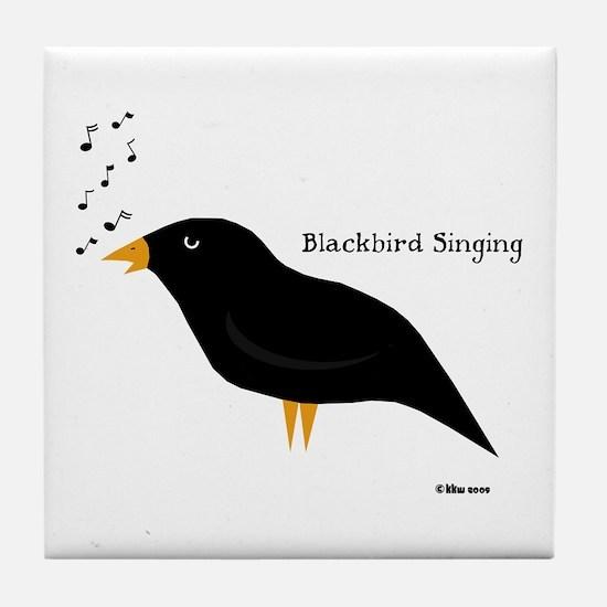 Blackbird Singing Tile Coaster