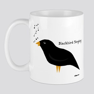 Blackbird Singing Mug