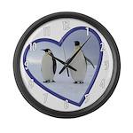 Emperor Penguin Large Wall Clock