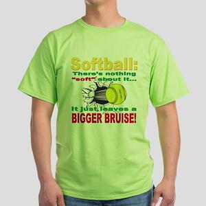 Girls Softball Green T-Shirt