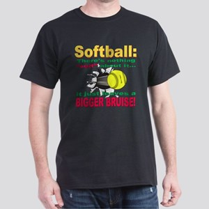 Girls Softball Dark T-Shirt