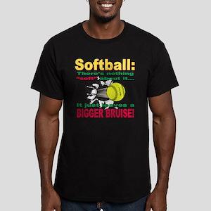 Girls Softball Men's Fitted T-Shirt (dark)