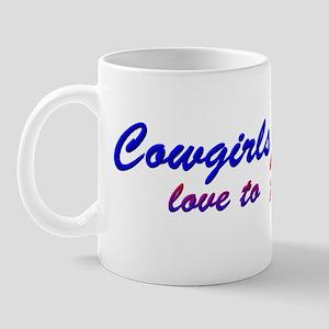 Cowgirls Love to Ride Pinup Mug