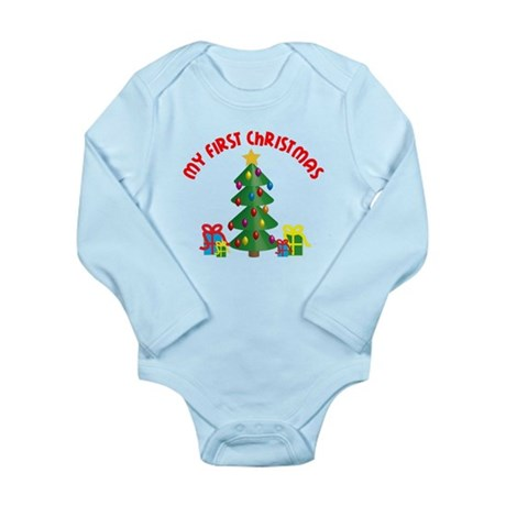 My First Christmas Long Sleeve Infant Bodysuit