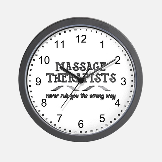 Massage Therapists Rub Wall Clock