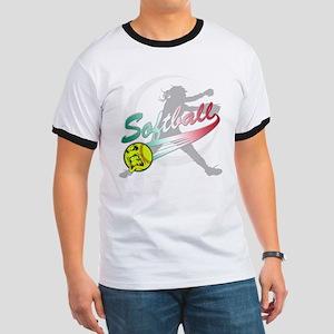 Girls Softball Ringer T