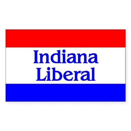 Indiana Liberal Rectangle Sticker