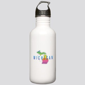 Michigan Heart Rainbow Stainless Water Bottle 1.0L
