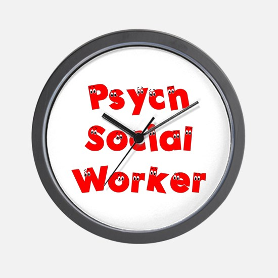 Psych Social Worker Wall Clock