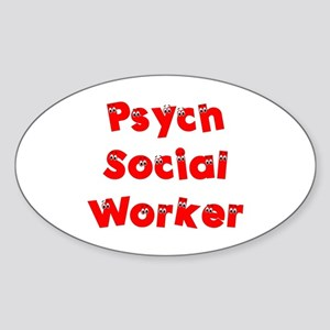 Psych Social Worker Oval Sticker
