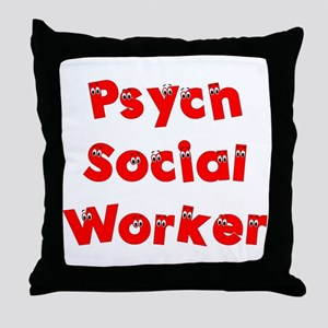 Psych Social Worker Throw Pillow